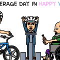 An Average Day in Happy Wheels