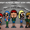 High School Army Kids