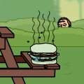 Unattended Hamburger (still)