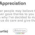 Sincere Developer Appreciation