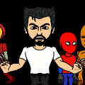 The 4 Marvel Heros