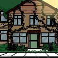 Outside House Scene (Vines)