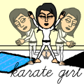 The karate girl