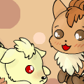 ninetails and vulpix chibi