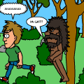 the funny bigfoot run