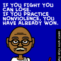 Gandhi's bitstrip motto