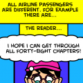 Comics may shift during flight