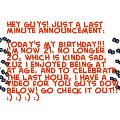 My birthday!!