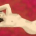 'Reclining nude.'