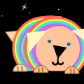 'Rainbow Puppy In Space'
