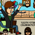 '100th Strip Celeration!'