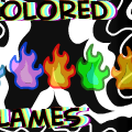 colored flames
