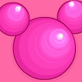 Pink Minny Mouse Head