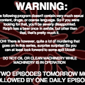 MURDER MYSTERY WARNING