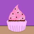 Pink-Frosted Cupcake