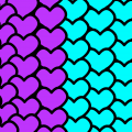 Hearts with My fav Colours
