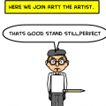 Arty the angry artist