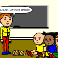 Caillou ate all the cookies