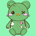 Zombie teddy bear <3