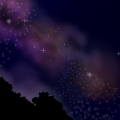 free night sky scene