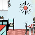 *retro kitchen*