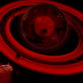 Approaching Red Droid Planet