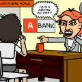 Barbara lives in Bank World