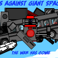 Battles Against Giant Space Ship