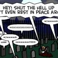 'Distrubing the peace'