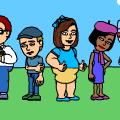 June's friends