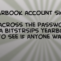 Yearbook account sign ups
