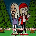 Goldie and Red Riding