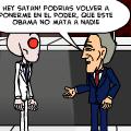 'Satan no vota por Bush'