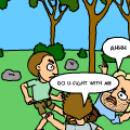 Fight in forest