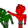Green Hulk Kills Red Hulk!