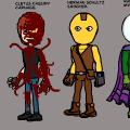 Villain designs for Spider-man