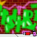 'tryed to make graffiti'