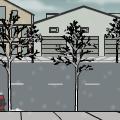 Street scene winter/summer