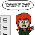 ALLDAY U. STARRING ADJUNCT ALICE