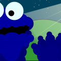Cookie Monster at Night