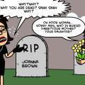'desperate widow'