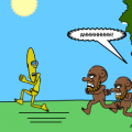 'bananaman VS monkeys:escape'