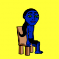avatar falls off chair!